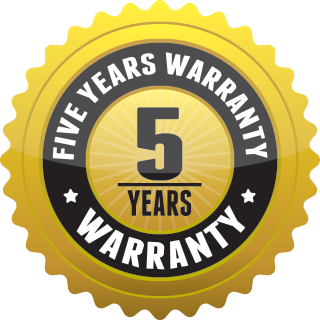 Five Years Warranty
